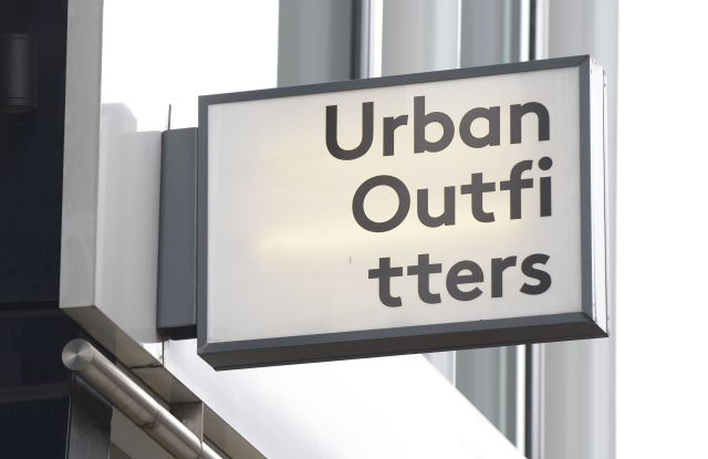 Urban Outfitters shop store sign, London, UKShop fronts and buildings, UK - 2016