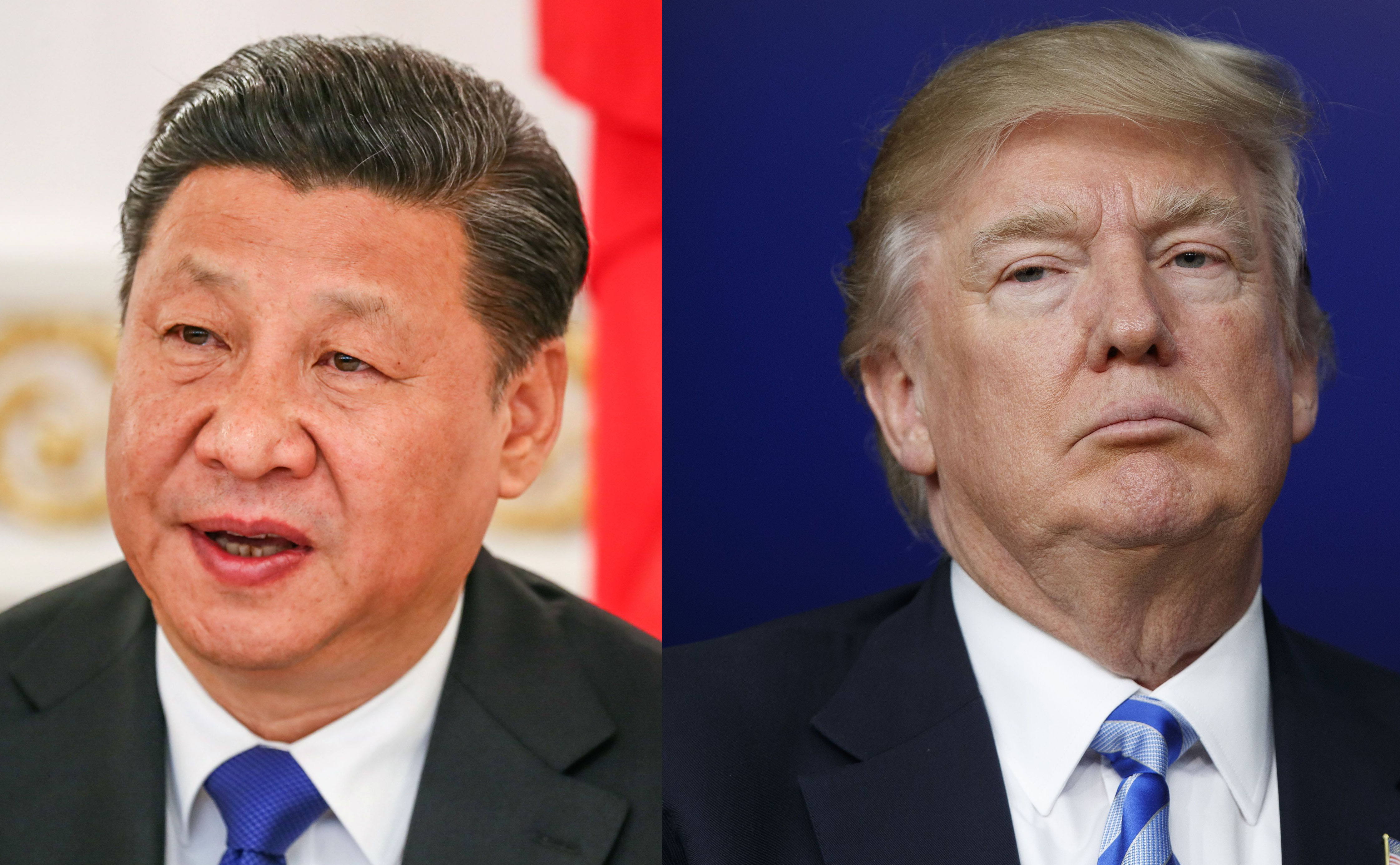 Chinese President Xi Jinping (left) and U.S. President Donald Trump (right)