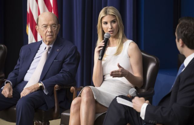 Ivanka Trump and Wilbur Ross White House town hall