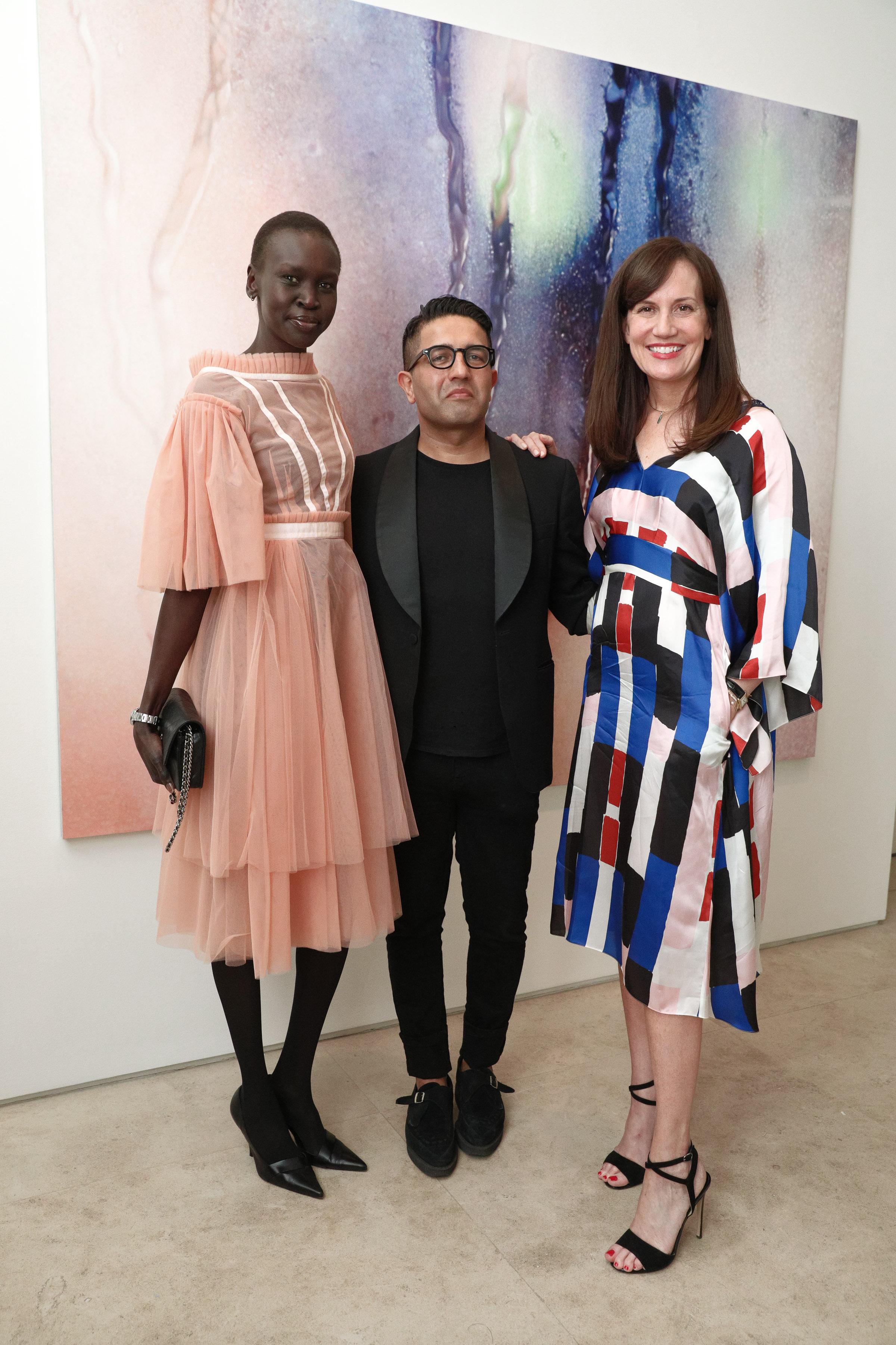 Alek Wek, Osman Yousefzada, Daniella VitaleOsman launch, Barneys New York, USA - 12 Apr 2017