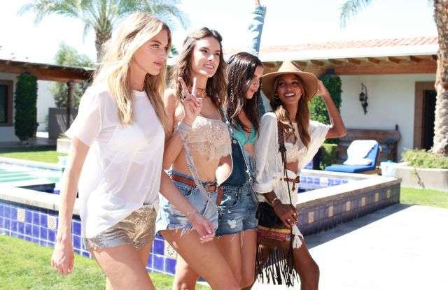Martha Hunt, Alessandra Ambrosio, Sara Sampaio and Jasmine Tookes Victoria's Secret Angel Oasis - Friday, Coachella Valley Music and Arts Festival, Palm Springs, USA - 14 Apr 2017