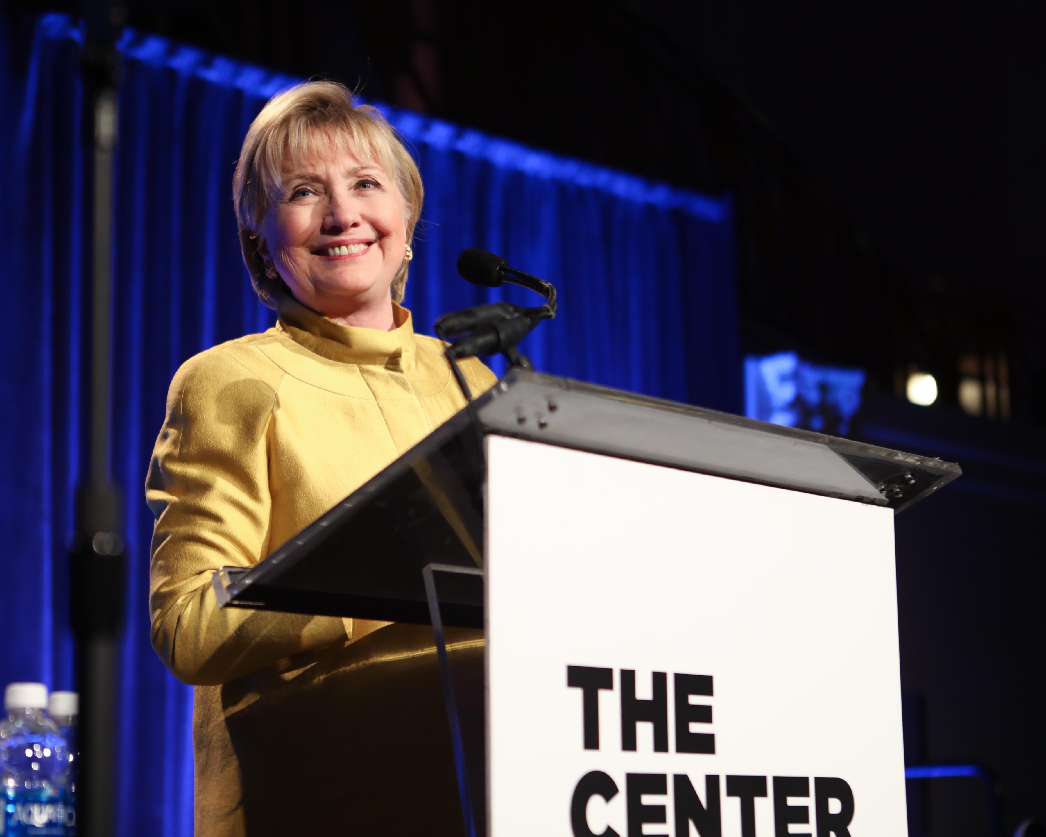 Hillary ClintonLGBT Community Center of New York Annual Fundraising Dinner, Inside, New York, USA - 20 Apr 2017