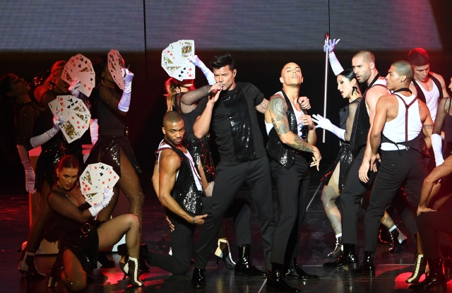 "Ricky Martin Wearing Dsquared2 during the ""Ricky Martin: All In"" residency show in Las Vegas"