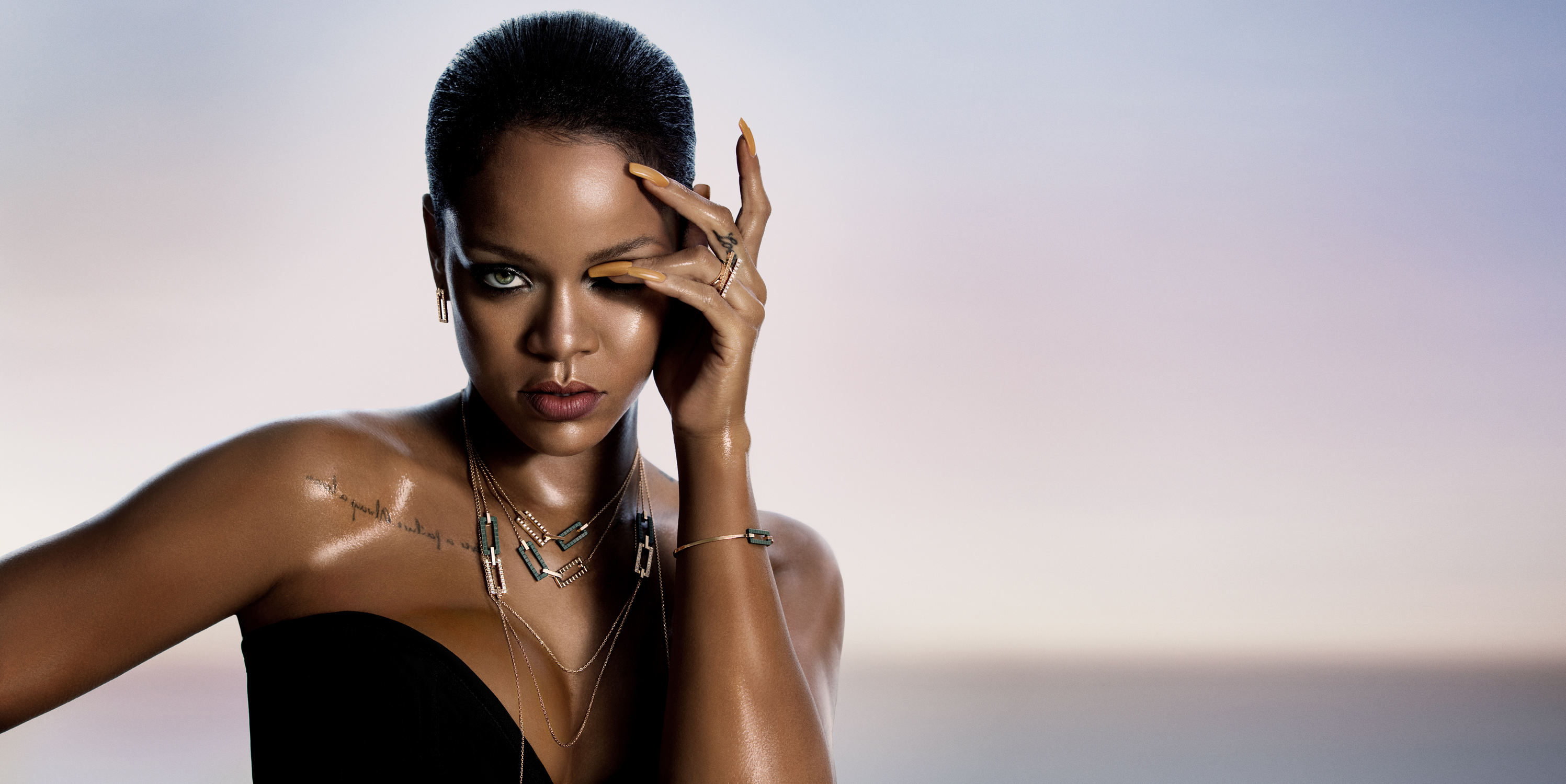 Rihanna in the Rihanna Loves Chopard campaign.