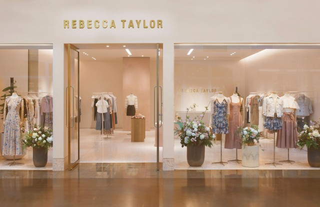 Rebecca Taylor's pink-hued Dallas store.