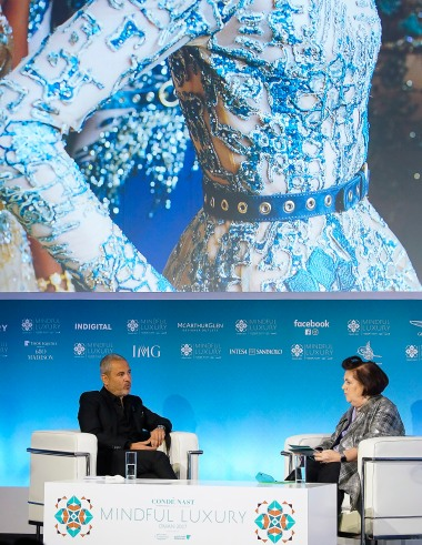 Elie Saab in conversation with Suzy Menkes