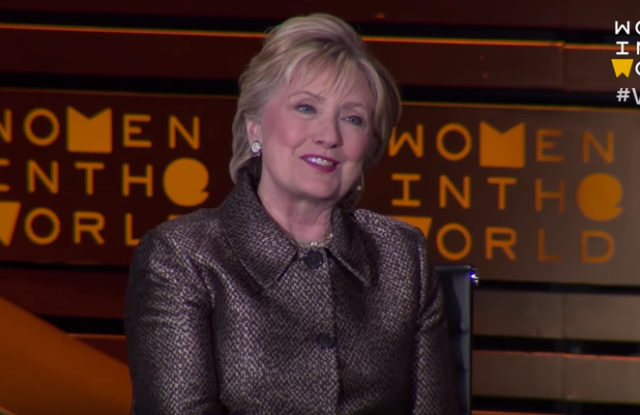 Hillary Clinton at the Women in the World summit.