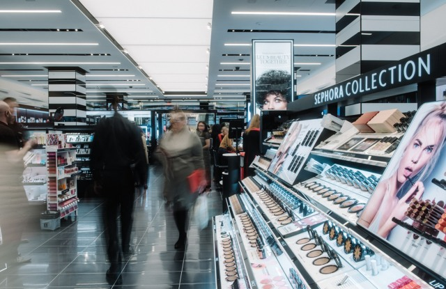 Inside Sephora on 34th street.