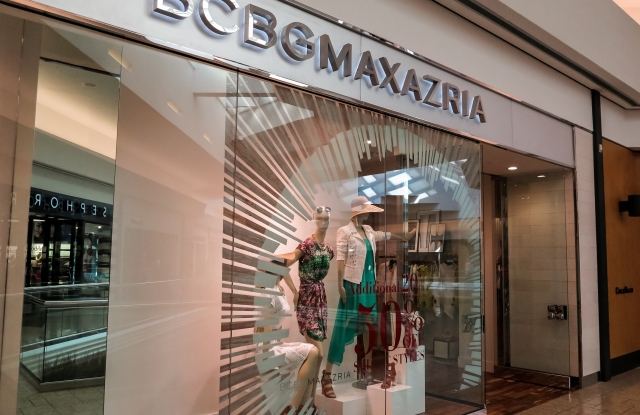 A BCBG  store front.