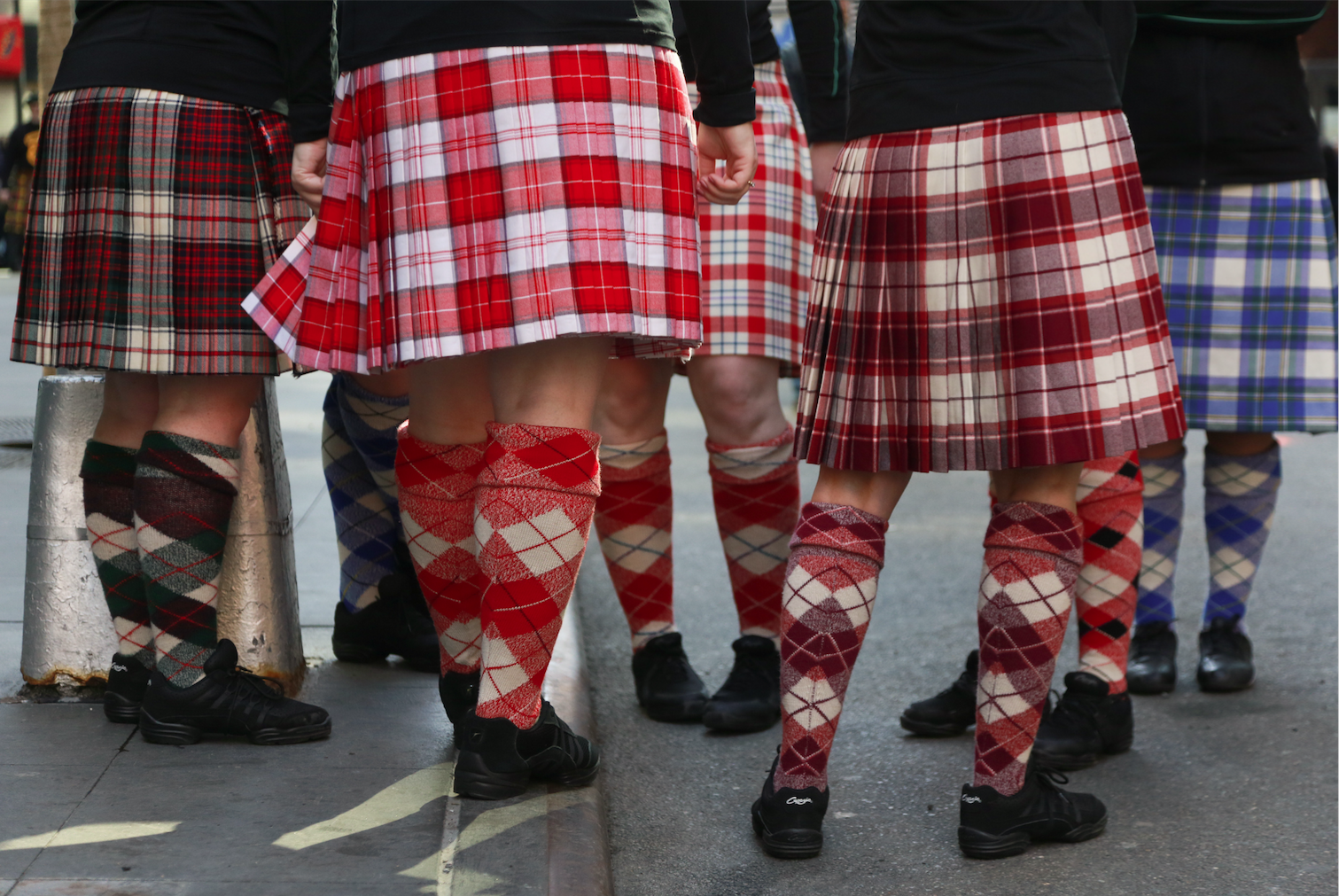 Tartans on parade.