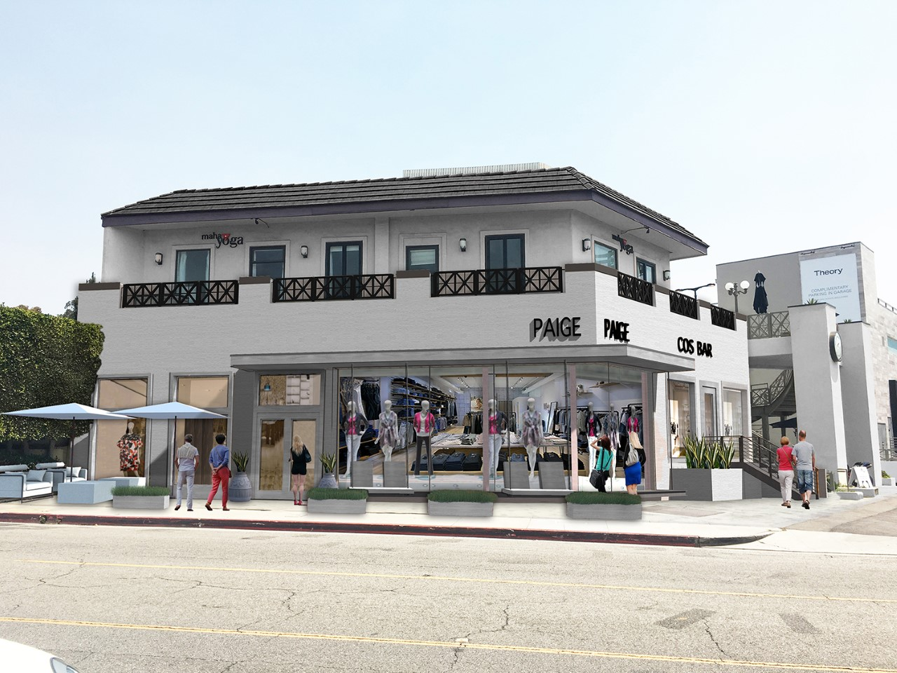 A rendering of the Paige store in Brentwood