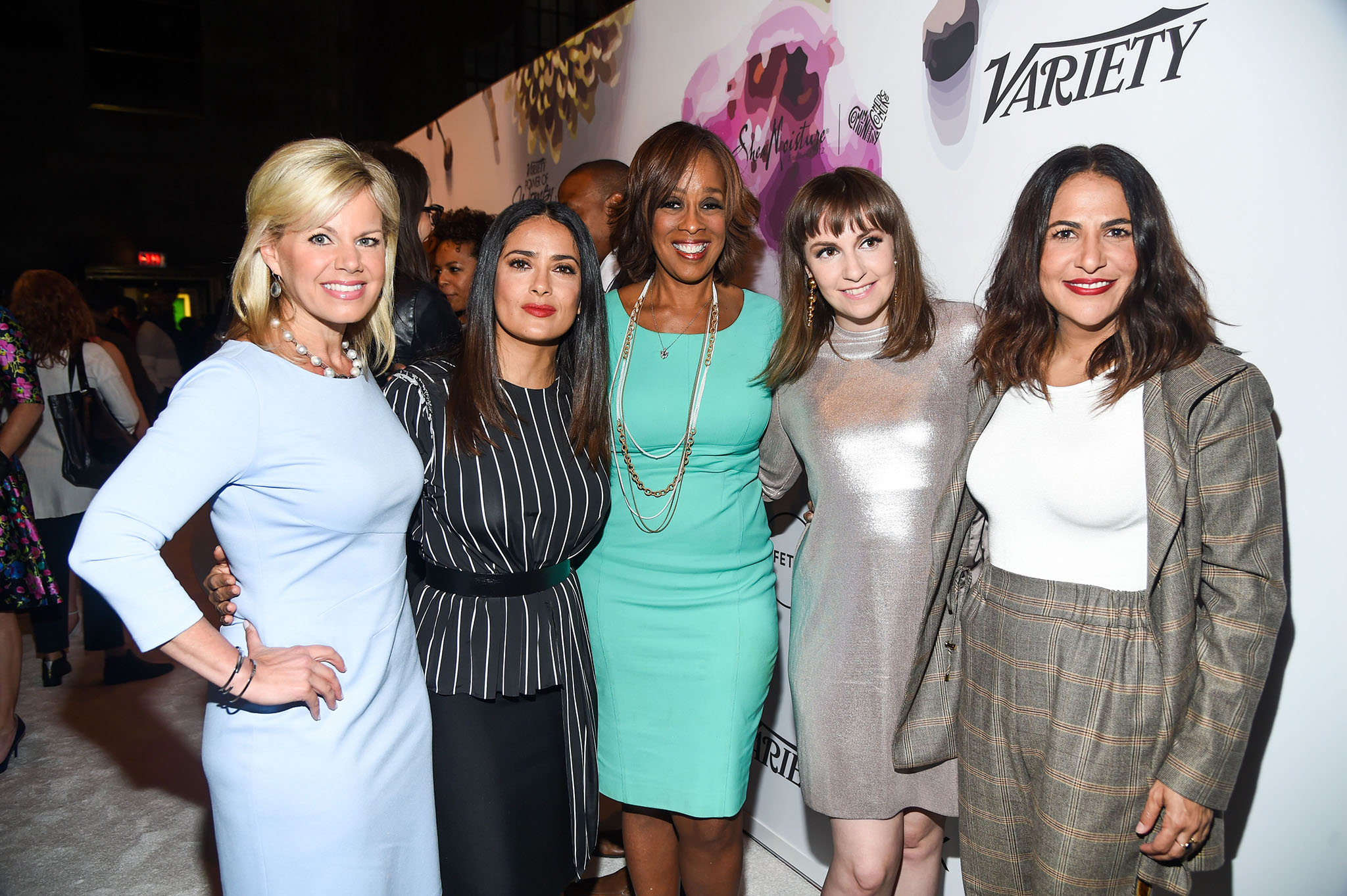 Gretchen Carlson, Salma Hayek, Gayle King, Lena Dunham, Jenni KonnerVariety's Power of Women NY Presented by Lifetime, Inside, Cipriani Midtown, New York, USA - 21 Apr 2017