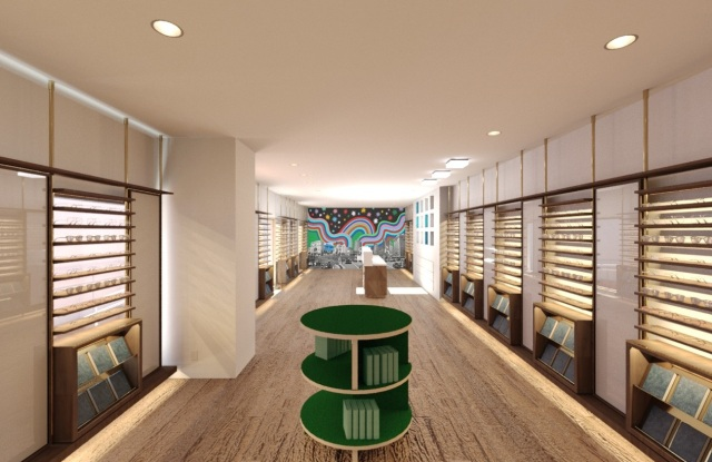 Warby Parker Green Room at 8618 Melrose Ave. in West Hollywood.
