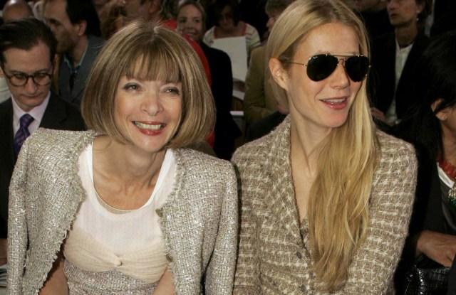 Anna Wintour and Gwyneth PaltrowCHANEL HAUTE COUTURE FASHION SHOW AUTUMN / WINTER, PARIS, FRANCE - 05 JUL 2005