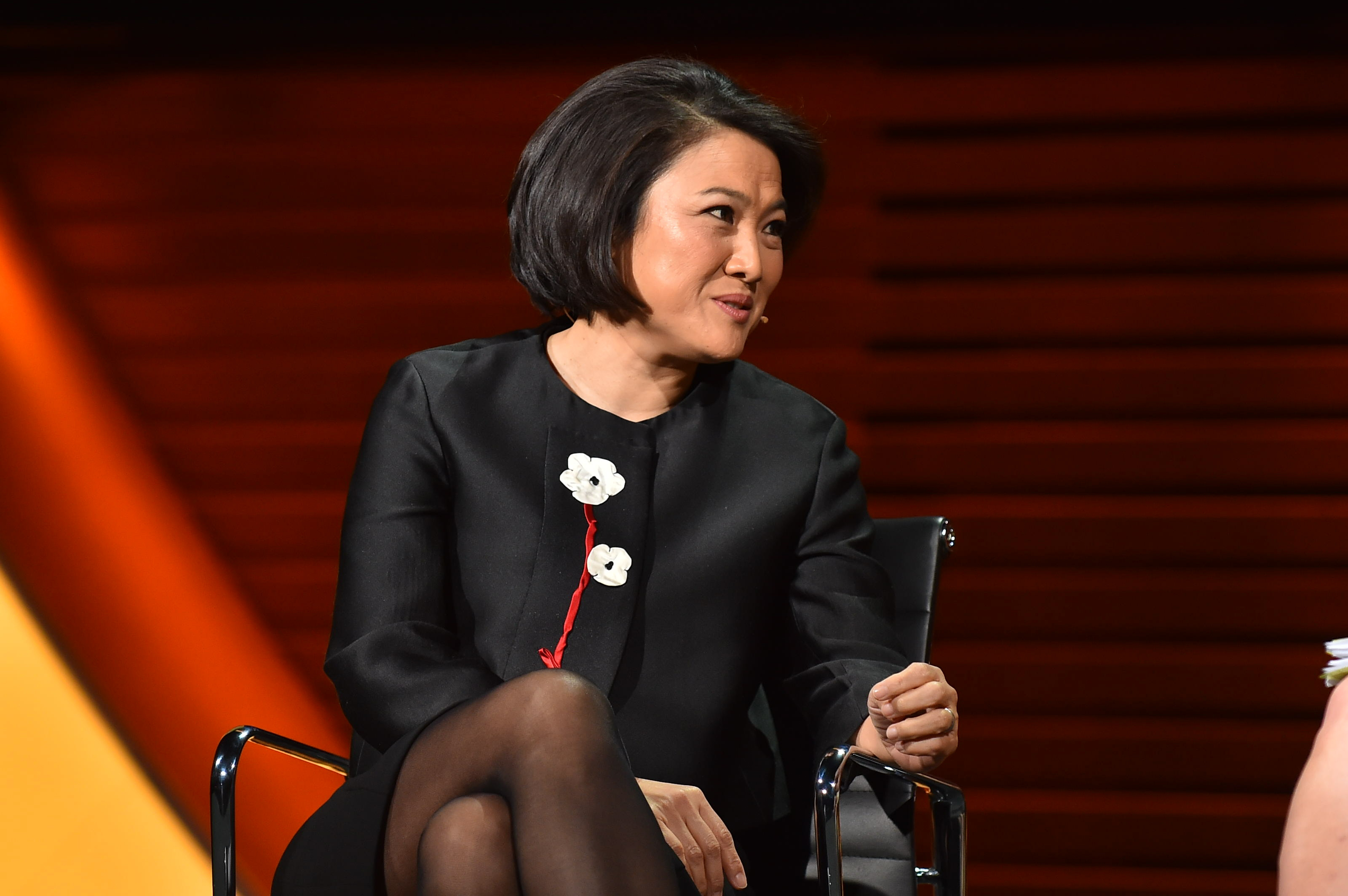 Zhang Xin, Co-founder and CEO, SOHO China on 'The Woman Who Built Beijing' at The 2017 Women In The World Summit in New York City; 4/6/2017