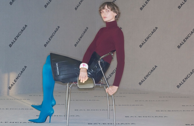 An image from Balenciaga's fall ad campaign.