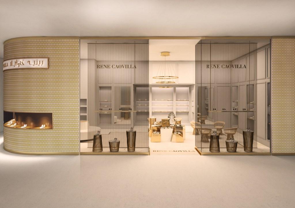 The new René Caovilla boutique in Dubai
