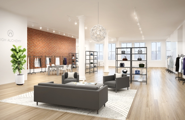 A rendering of High Alchemy's showroom in SoHo.