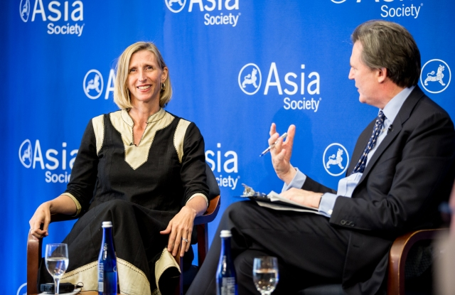 Ellen Barry interviewed by John Micklethwait at the Asia Society.