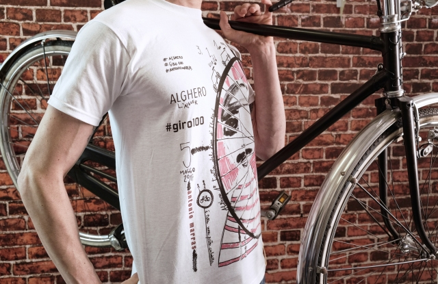 "The T-Shirt designed by Antonio Marras for ""Giro d'Italia"""