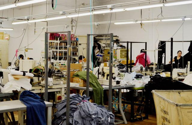 Inside one of 9b Apparel's Los Angeles factories