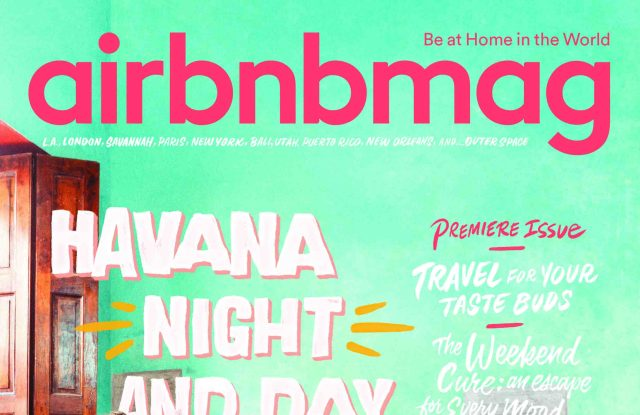 The debut cover of Airbnbmag.