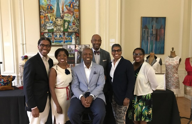 Ambassador Paul Altidor with Haitian-American entrepreneurs.