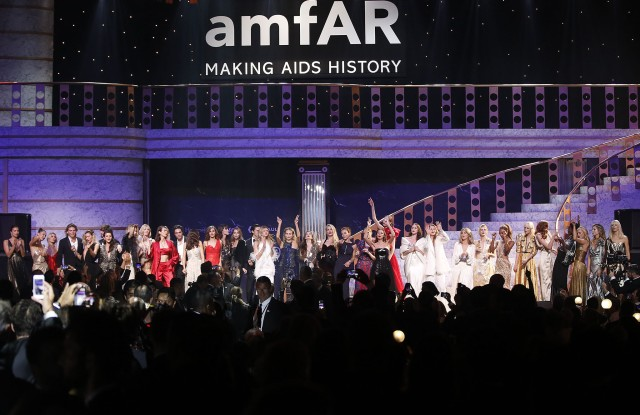 Models conduct the auction during the auction dinner of the Cinema Against AIDS amfAR gala 2016 held at the Hotel du Cap, Eden Roc in Cap d'Antibes, France, 25 May 2017. The aucton is part of the 70th annual Cannes Film Festival that runs from 17 to 28 May.amfAR Gala - 70th Cannes Film Festival, Cap D'antibes, France - 26 May 2017