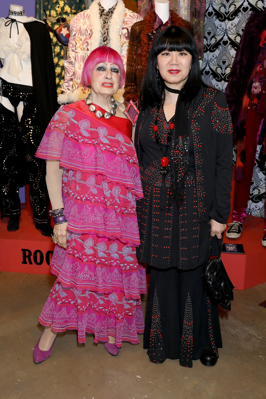 Zandra Rhodes and Anna Sui