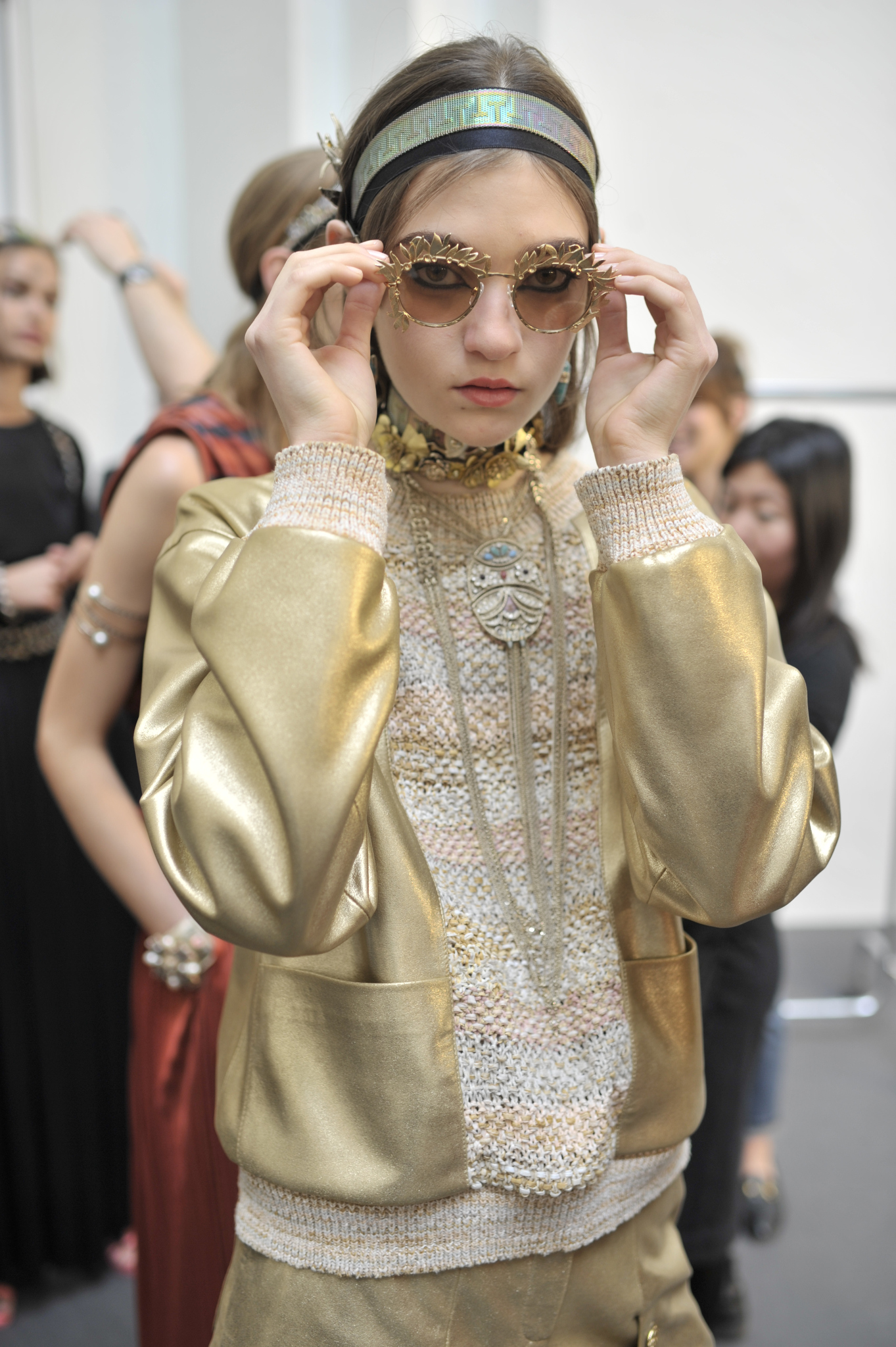 Backstage at Chanel Cruise 2018 Show