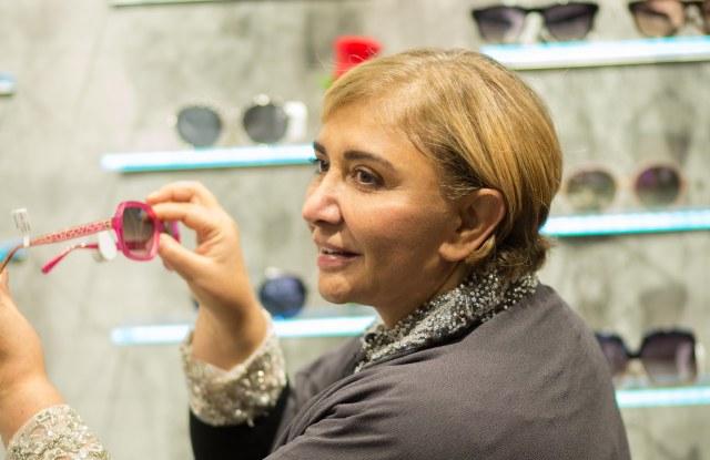 Sheila Vance, founder of Sama Eyewear, at her new boutique in Riyadh, Saudi Arabia.