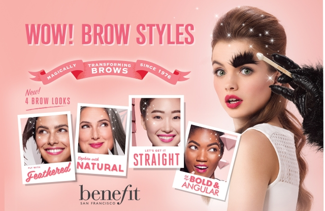 Benefit is rolling out a universal menu of Brow Styles in all BrowBars.
