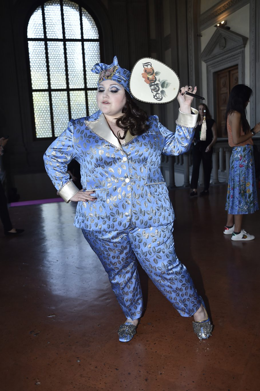 Beth Ditto at the Gucci Resort 2018 show in Florence