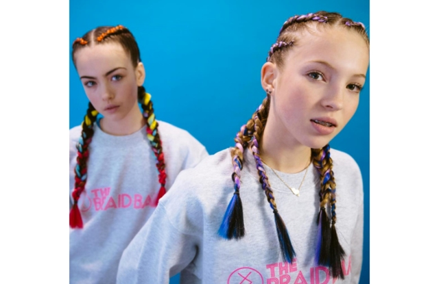 Braid Bar's new campaign featuring Lila Moss