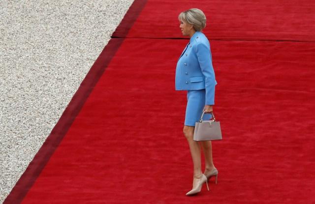 Brigitte Trogneux wears Louis Vuitton
