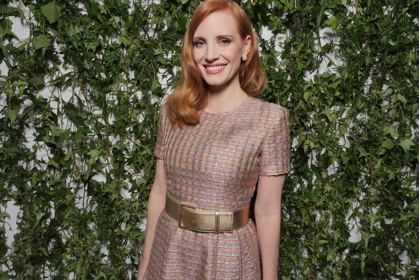 Jessica Chastain at the Vanity Fair France and Chanel Dinner in Cannes