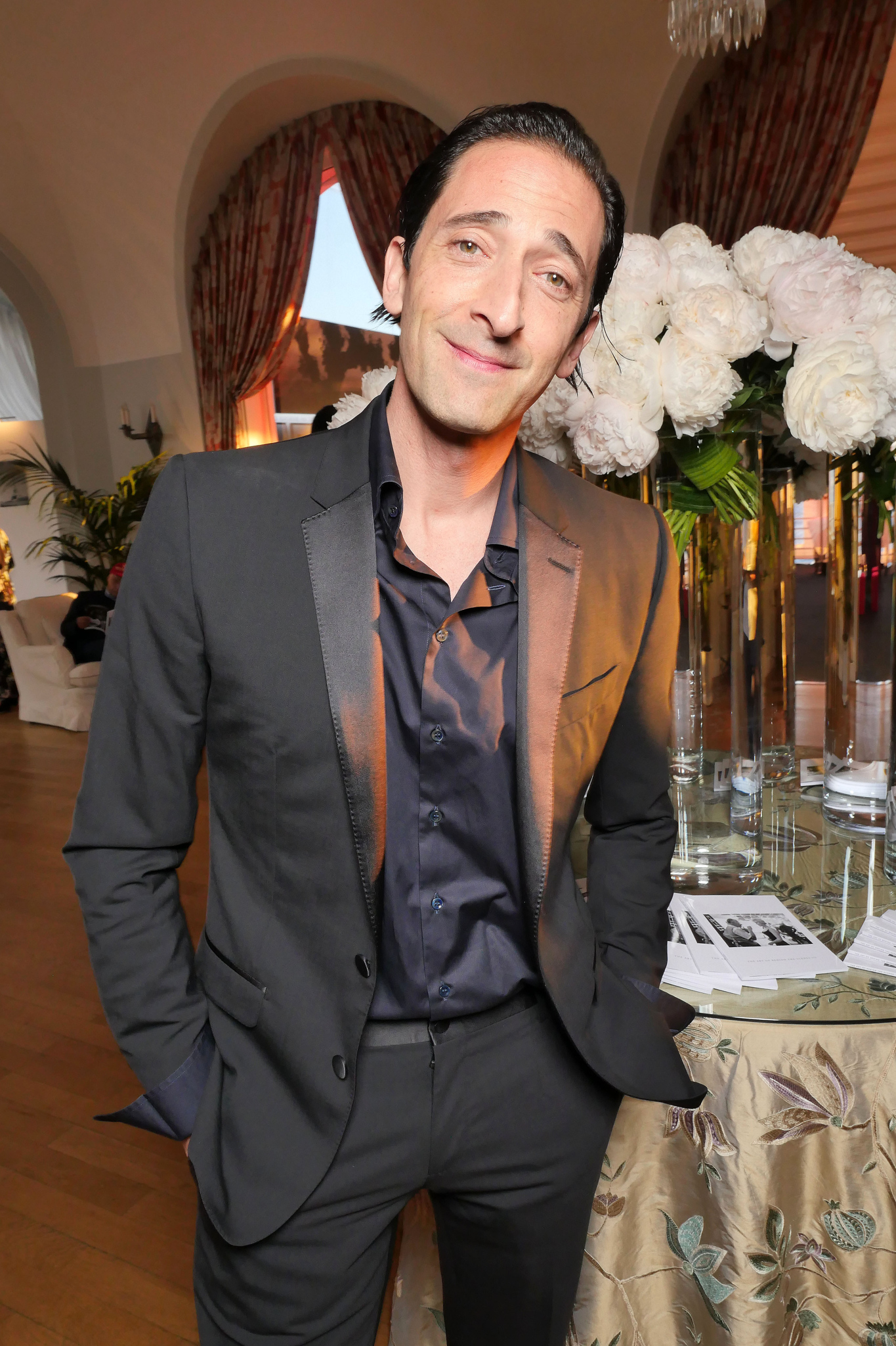 Adrien Brody Exclusive photos of the Charles Finch Filmmakers Party at Cannes