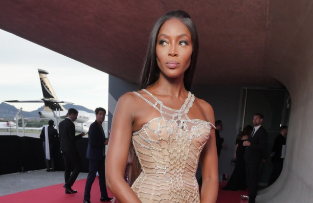 Naomi Campbell at the Fashion for Relief event in Cannes