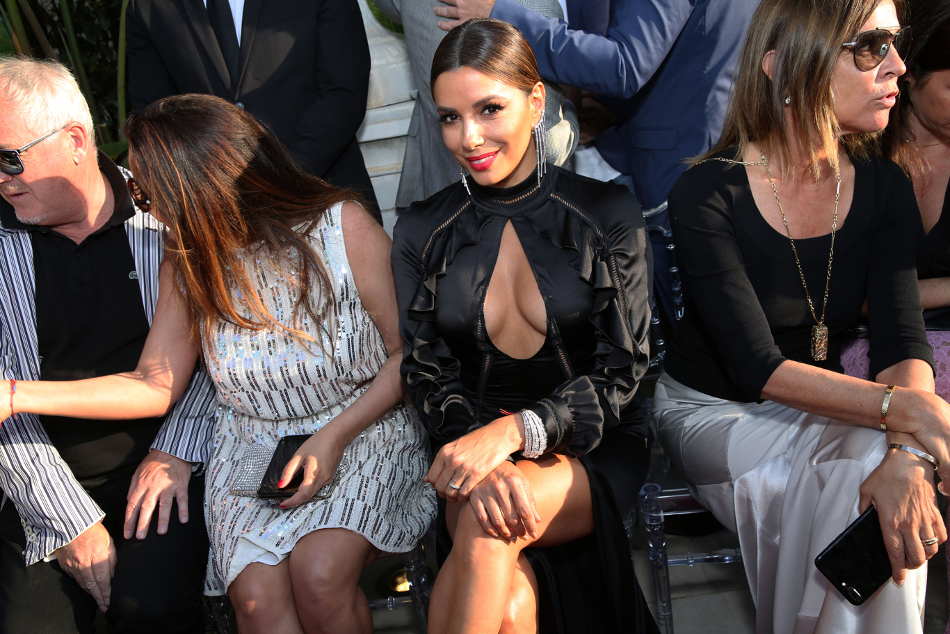 Eva Longoria at Philipp Plein's show at his villa during Cannes Film Festival.