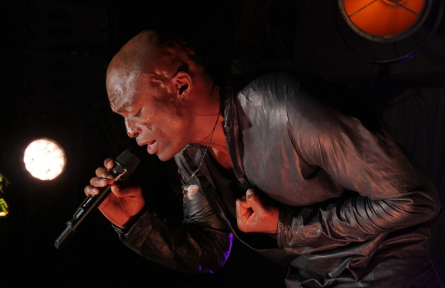 Seal performed at a party thrown by perfumer The Harmonist at the Le Club by Albane on the rooftop of the JW Marriott hotel.