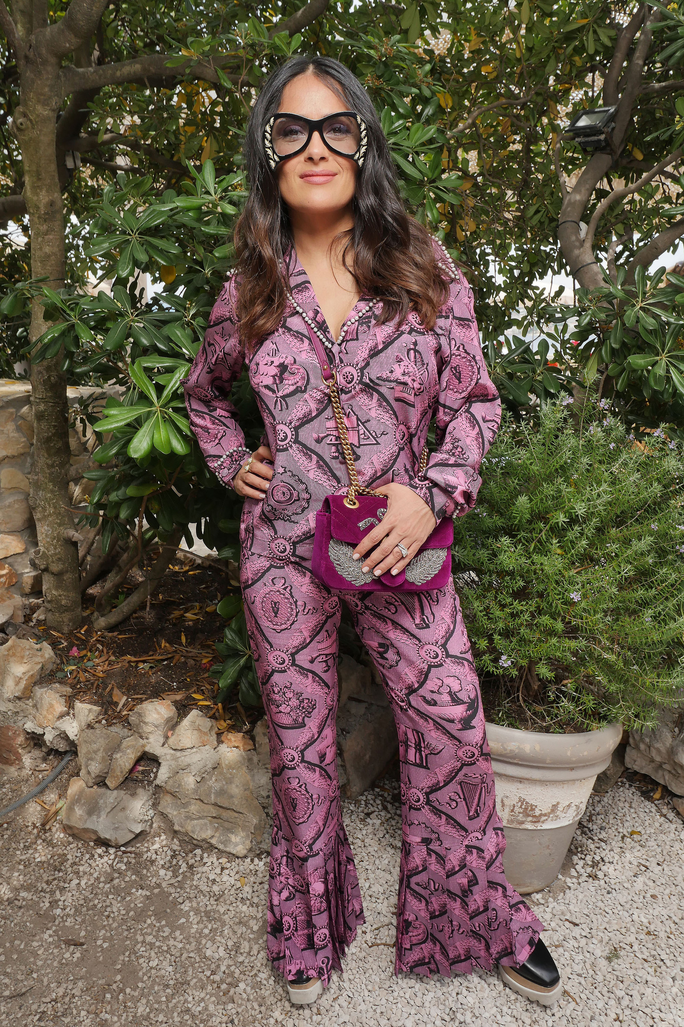 Salma Hayek at the Kering and Madame Figaro Women in Film Cannes lunch