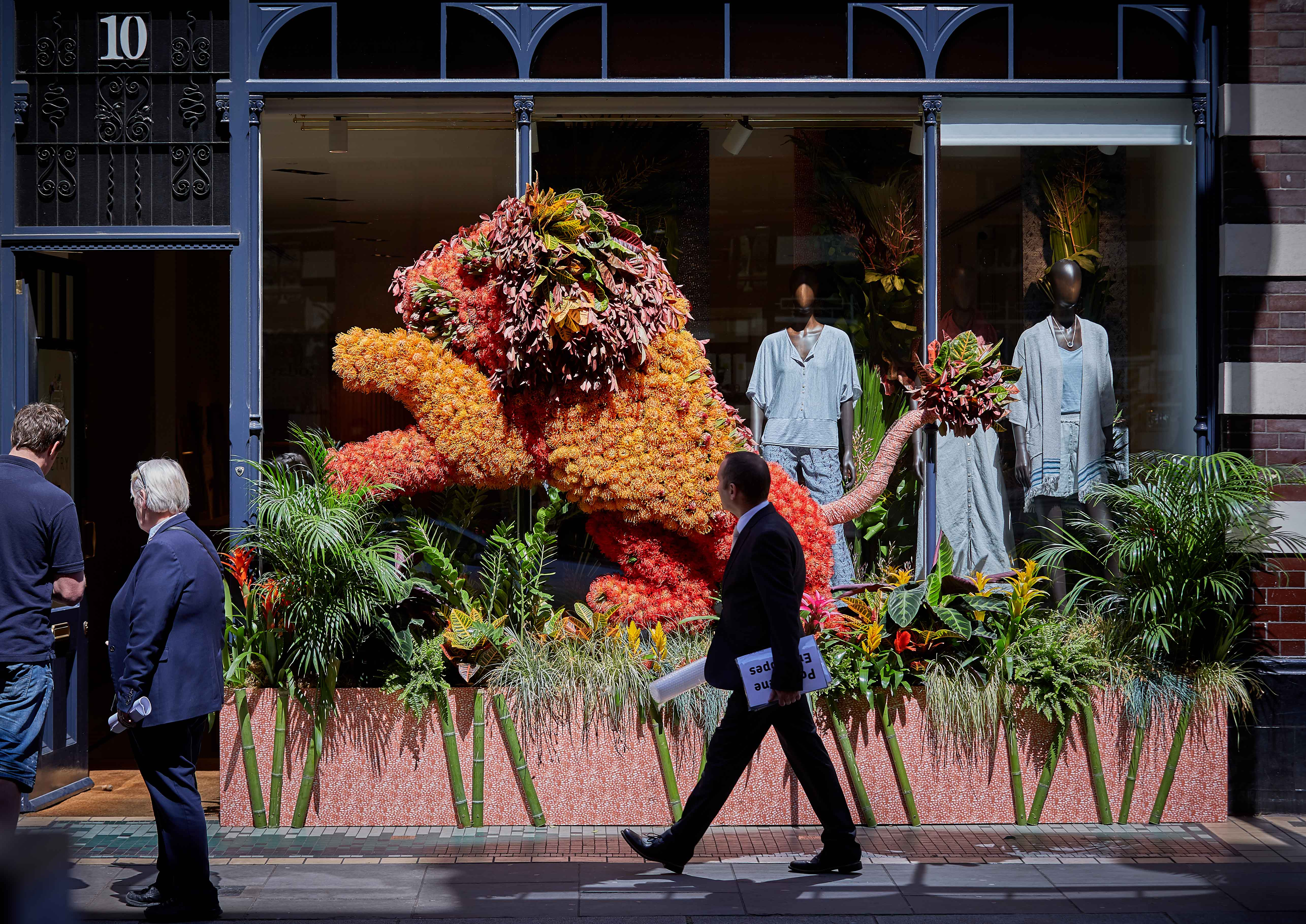 """An image from the """"Chelsea in Bloom"""" retail initiative"""