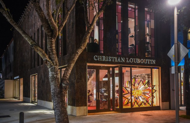 The Christian Louboutin boutique in Miami's Design District.