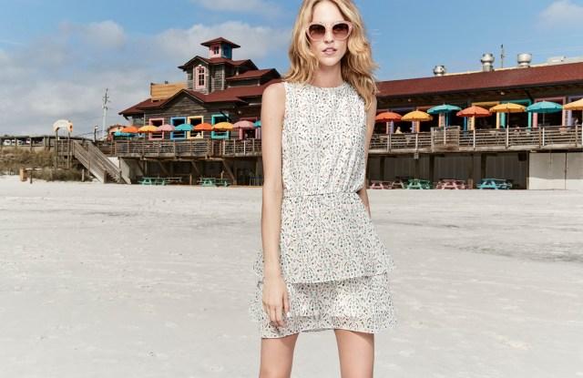 CR by Cynthia Rowley tiered print dress, priced $139.