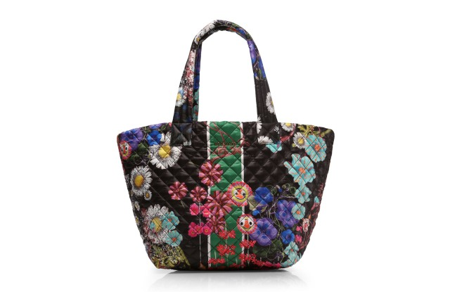 Cynthia Rowley and MZ Wallace have collaborated on a floral Metro Tote.