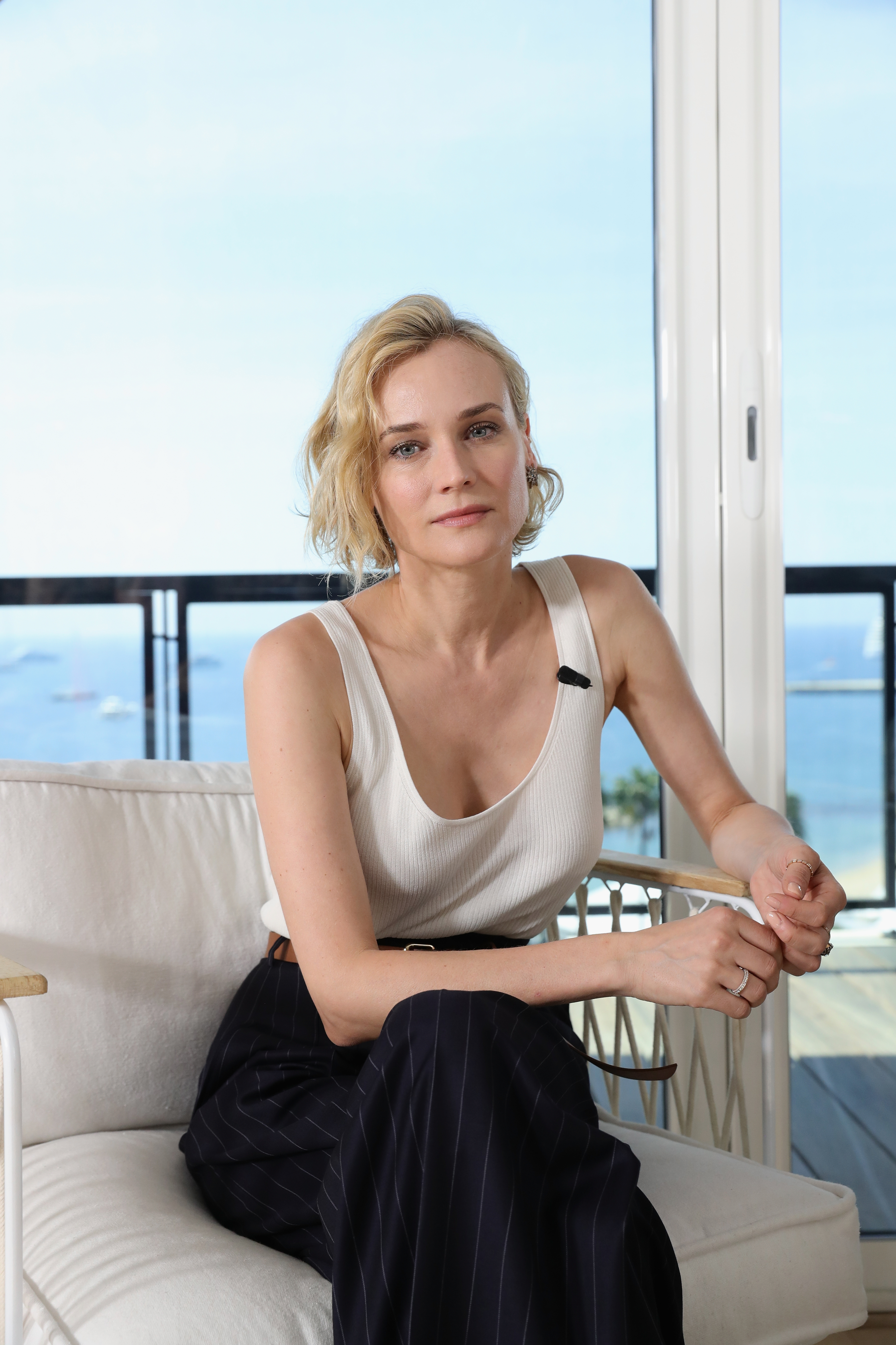 Diane Kruger in GREY Jason Wu x Diane Kruger collection attends Kering's Women In Motion talk.