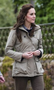 The Duchess of Cambridge (in Troy London) visits Farms for City Children.