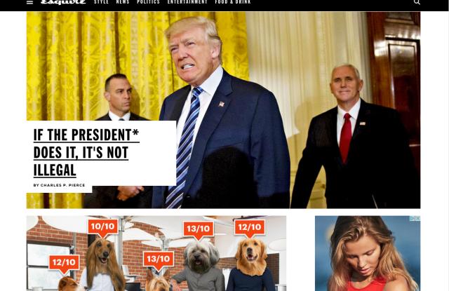 Esquire's website.