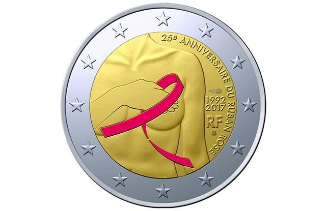 The commemorative 2-euro piece.
