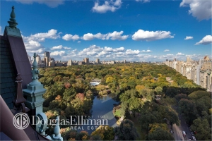 Tommy Hilfiger's terrace overlooking Central Park.